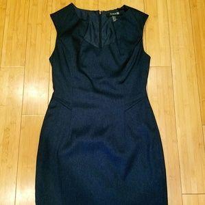 Navy Blue & Black Dress